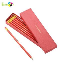Bolígrafo cartón impreso el logotipo personalizado para el estudio de embalaje Caja de lápices de papel