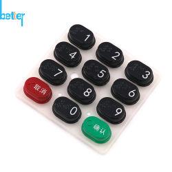 Tastiera di plastica delle pillole del carbonio del tasto della gomma di silicone della protezione del coperchio