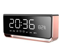 Nieuwe Aankomst Spreker Bluetooth van het Metaal van 10 Watts de Draagbare Draadloze Mini met LEIDEN van de Aanraking van de Wekker van de Spiegel Licht