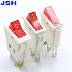 3El pasador de la luz de encendido y apagado de balancín de 15 A 125 VCA Kcd Contacto