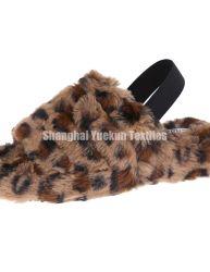 Muy de moda las Zapatillas de Leopardo imprime Faux Fur zapatillas Zapatillas de piel falsa