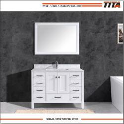 熱い販売の純木の現代浴室の虚栄心のキャビネットT9199-48W