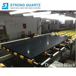 Black Mesa de jantar pedra de quartzo Artificial