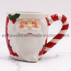 Nuevo diseño 3D de Cerámica pintada a mano manualidades regalo de Navidad Adornos taza de café