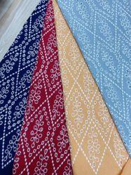 Venda por grosso de 100% algodão descaroçado Bordados químicos personalizados Coreano Fabric