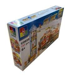 제조자 주문 로고는 플라스틱 손잡이를 가진 재생한 골판지 아이들 장난감 차 선물 포장 판지 상자를 인쇄했다
