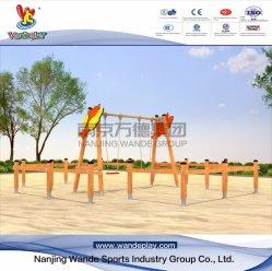 Wandeplay columpio de madera exteriores para niños juegos de jardín con Wd-Dz049
