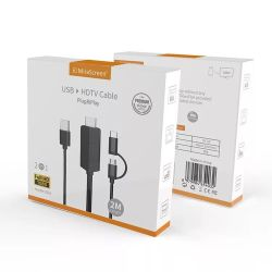 1080 Tipo HD -C cabo Micro para HDMI Converter suporta o Google Hone & Chrome