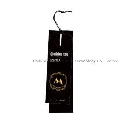 Papel personalizado Hangtag etiqueta RFID para vestuário/Gerenciamento de inventário de peças de vestuário