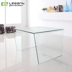 Moderner heißer verbiegender Glaskaffee-Seiten-Tisch