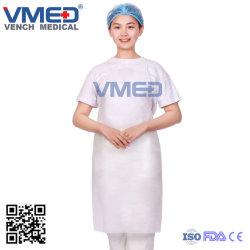 La non-tissés jetables jetables de l'hôpital chirurgical tablier blanc tablier chirurgicale Non-Woven, médecin ou infirmière/le tablier Non-Woven
