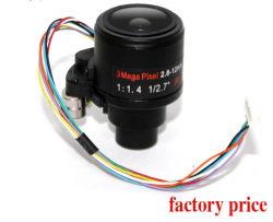 عدسة كاميرا Vari-Focal Zoom CCTV الصينية مقاس 2-8 إلى 12 مم 2 بوصة مقاس 1/2.7 بوصة مع الضبط التلقائي للقزحية بدقة 3 ميجابكسل D14