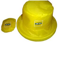 Polyester à bon marché de gros pour la promotion de godet de pliage Hat