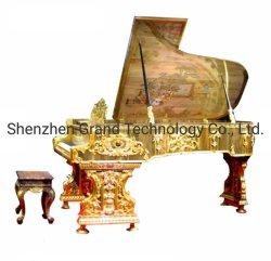 Carving Antique Gold Piano Luxury Home Mobiliário para venda (GP-G5)