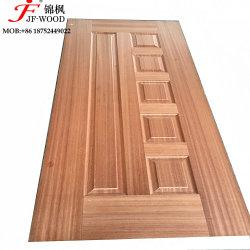 Chapa de madera natural y melamina HDF Core de la piel de la puerta