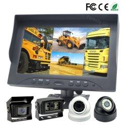 9 de Monitor van de Auto van de Hoge Resolutie van Ahd van de vierling met Hgv het Omkeren van de Mening van Ahd van de Vrachtwagen de AchterCamera van de Visie van de Nacht