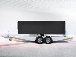 使用料を広告するための屋外P6によって折られるスクリーンLEDのビデオ移動式トレーラースクリーン