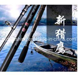 Ultrailight fibra de carbono tubo telescópico cana de pesca mar portátil girando Pole