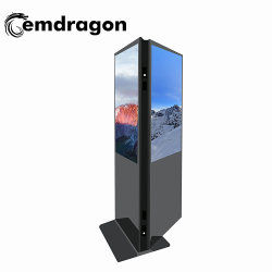 شاشة عرض LCD رقمية مقاس 43 بوصة تعمل بتقنية اللمس الثنائي مشغل إعلانات الإشارات الرقمية لكشك شاشة LCD ذات الوجهين
