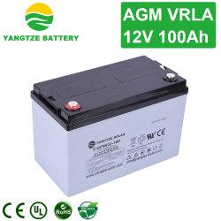 يانغتسي تبيع 12 فولت 100 أمبير بطاريات الاتصالات السلكية واللاسلكية AGM Solar Battery