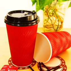熱い紙コップの袖、ロゴのカスタムペーパーコーヒーカップの袖、コーヒー紙コップ