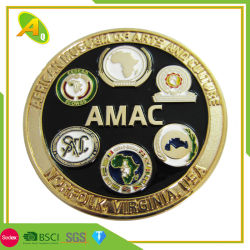 La medaglia di disegno di modo ha personalizzato la moneta di sfida dell'oro di Personized del metallo ed il distintivo (106)
