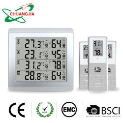 3つのリモートセンサーが付いている無線屋内か屋外4チャネルの熱湿度計
