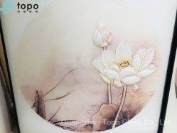Pittura decorativa di vetro personalizzata con il loto (MR-YB6-2013)