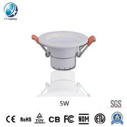 Le SMD 5730 Non-isolée dur lampe LED Downlight Led trois CCT en un seul témoin 5W 2.5Inch RoHS 180-240V avec ce