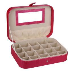宝石類のギフト箱の正方形リングの包装の表示携帯用旅行箱のベルベットのリングの宝石類箱