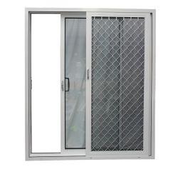 Австралия стиле с алюминиевой рамкой стекла боковой сдвижной двери с помощью пожара доказательства сетка из нержавеющей стали