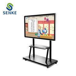 Affichage LCD 86 pouces tout en un tableau blanc numérique de l'écran tactile intelligent pour panneau interactif