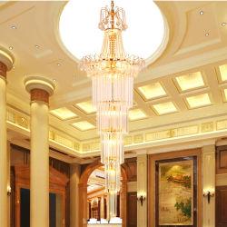Sala de estilo europeu lustre de cristal Hotel Villa Lâmpada Pendente