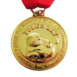 중국제 주문 금속 금관 악기 금 은 진열장 (44)를 가진 니켈에 의하여 도금되는 배구 하키 메달