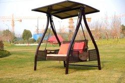 Hg Делюкс Садовая мебель Hammock Patio 3-местный Swing Стул с подушкой