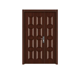 Aço Americano cor de avelã Portas Porta do painel laminado de película de alta qualidade
