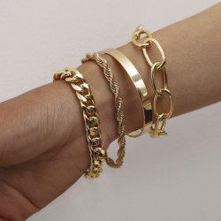 方法個人化された金ブレスレットセット金属の宝石類のバングル