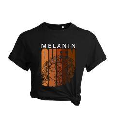 Дешевые Custom 2021 Summer Black Graphic Tees Short Sleeve Cotton Топ Freedom Свитера Меланин T Кофта женщины