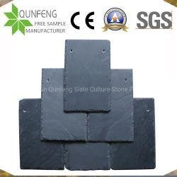 Tetto di mattonelle naturale dell'ardesia del nero della superficie di spaccatura della Cina