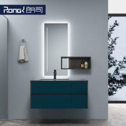 A madeira maciça moderno parede simples combinação Mountained armário de banheiro
