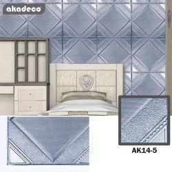 Livro Verde Akadeco, saudável e luxo em estilo europeu Odor-Free azul acinzentado Material de decoração sala à prova de auto-adesivo Hotel 3D em relevo o papel de parede