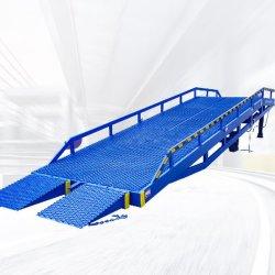Der Gabelstapler-Behälter, der die mobile verschobene Rostschutzeinstieg-Brücken-Plattform/lädt, reparierte hydraulische Dock-Laden-Rampen