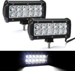 مصباح LED قضيب 36 واط، مؤشر LED لموضع غير ممهد، 6.5 بوصة المصابيح ضوء الضباب فائق السطوع أضواء قارب القيادة تعمل مصابيح القيادة مصباح السيارة الرياضية المتعددة الاستعمالات الخفيفة