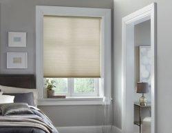 Fenster-Stromausfall macht Raum-verdunkelnfarbton-zellulare Farbtöne für Schlafzimmer blind, schwärzt heraus das 99% Licht u. UV-, thermisch, drahtlos und einfach, herunterzuziehen u. up