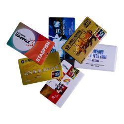 محرك أقراص USB محمول بطاقة Business Slim مع مكتب شعار Fullprinting توفير هدية قرص USB