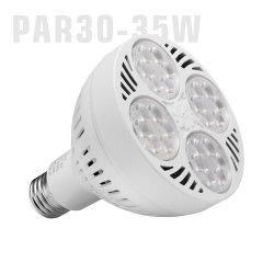 35W Ampoule PAR30 110V 220V ETL E26 E27 35W 3000K 4000K 8000K 10000K Flood réglable voie ferroviaire Spot de bijoux Spotlight PAR30 PAR 30 Lampe à LED