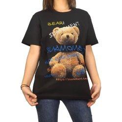Высокое качество короткие втулки Streetwear плотная дрсуга дамы Черный зал 100% хлопок с запасом по обычной Vintage Custom женщин T футболка