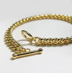 Jóias de moda 18K Gold Plated Sterling Prata corrente pulseira Prata