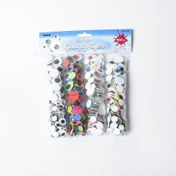 Le CN2036-0557 Artisanat ensembles de projets d'artisanat créatif de fournitures de bricolage Asst Googly Art 500PC les yeux, très approprié pour les enfants de style en plastique