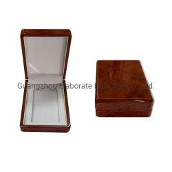 Elegante confezione in legno oro lucido con finitura quadrata, medaglia/badge/souvenir Confezione regalo confezione singola piccola